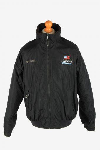Columbia Men's Waterproof Jacket Polar Lined Vintage Size L Black C2855