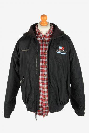Columbia Men's Waterproof Jacket Polar Lined Vintage Size L Black C2855-160438