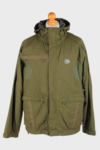 Helly Hansen Men's Waterproof Jacket Outdoor Vintage Size L Green C2861