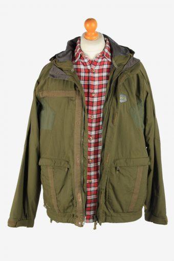 Helly Hansen Men's Waterproof Jacket Outdoor Vintage Size L Green C2861-160474
