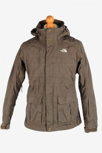The North Face Women's Jacket Outdoor Hooded Vintage Size L Dark Brown C2865