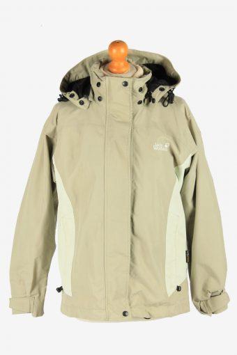 Jack Wolfskin Women's Lightwear Jacket Outdoor Vintage Size S Beige C2868