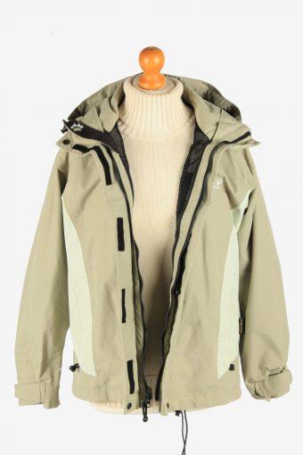 Jack Wolfskin Women's Lightwear Jacket Outdoor Vintage Size S Beige C2868-160516
