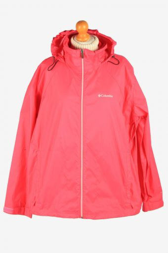 Columbia Women's Raincoat Waterproof Vintage Size XL Pink C2869