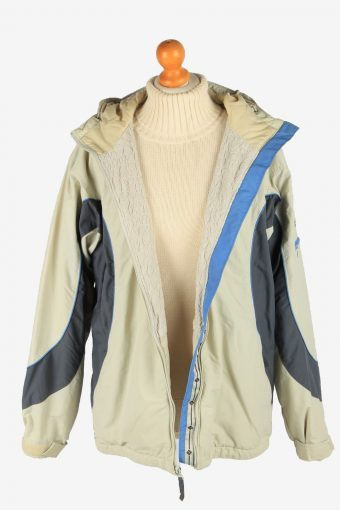 Columbia Women's Waterproof Jacket Adventure Vintage Size L Beige C2872-160540