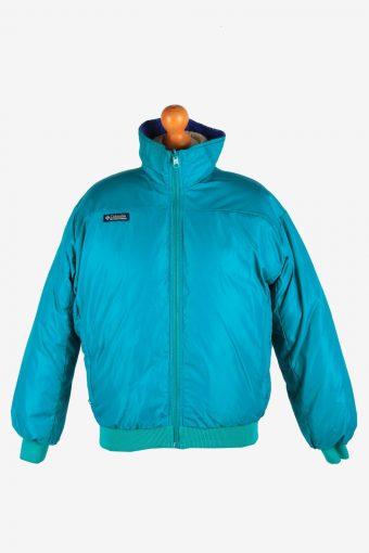 Columbia Reversible Womens Puffer Jacket Zip Up Vintage Size L Multi C2873