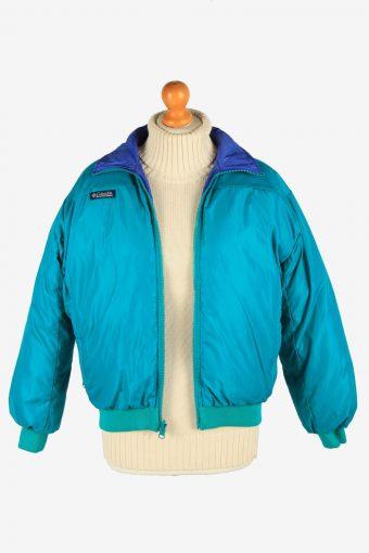 Columbia Reversible Womens Puffer Jacket Zip Up Vintage Size L Multi C2873-160546
