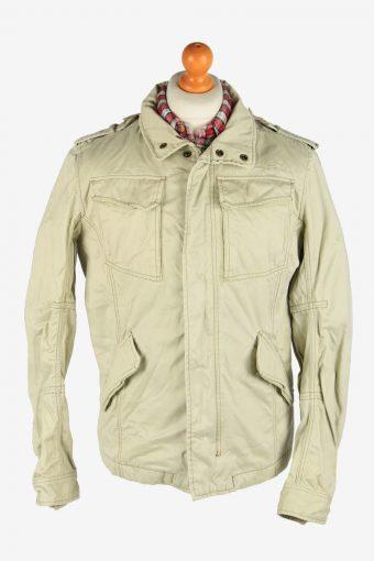 Diesel Men's Outdoor Coat Removable Hoodies Vintage Size L Beige C2877