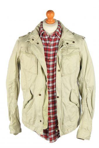 Diesel Men's Outdoor Coat Removable Hoodies Vintage Size L Beige C2877-160570