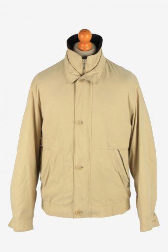 Daniel Hechter Men's Jacket Classic Zip Up Vintage Size M Beige C2878