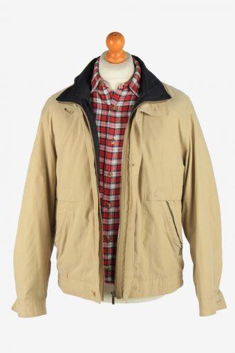 Daniel Hechter Men's Jacket Classic Zip Up Vintage Size M Beige C2878-160576