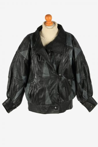 Women's Womens Jacket Button Up Vintage Size XL Black C2898