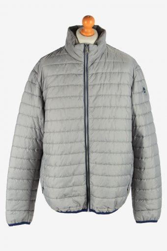 Mens Timberland Padded Jacket Lightweight Vintage Size XXXL Light Grey C2940