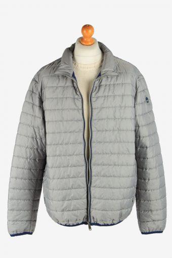 Mens Timberland Padded Jacket Lightweight Vintage Size XXXL Light Grey C2940-162053