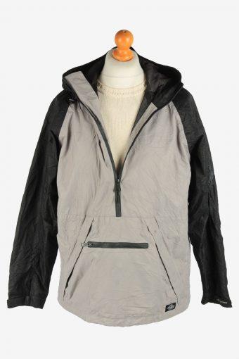 Mens Dickies Jacket Half Zip Track Outdoor Vintage Size L Grey C2941-162059