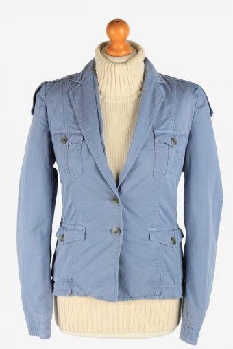 Women's Hugo Boss Blazer Jacket Button Up Vintage Size S Light Blue C2950