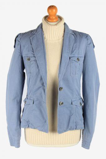 Women's Hugo Boss Blazer Jacket Button Up Vintage Size S Light Blue C2950-162141