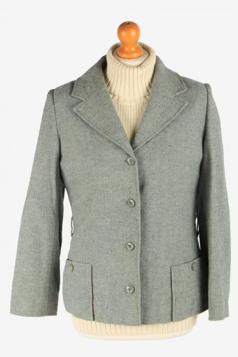 Women's Pendleton Wool Blazer Jacket Button Up Vintage Size S Grey C2952