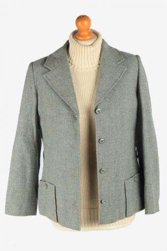 Women's Pendleton Wool Blazer Jacket Button Up Vintage Size S Grey C2952-162153