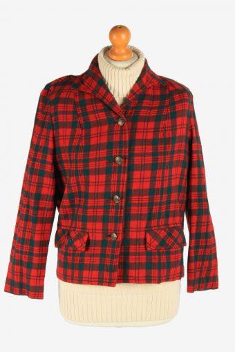 Women's Pendleton Wool Blazer Jacket Button Up Vintage Size L Multi C2953