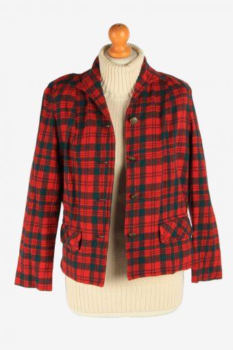 Women's Pendleton Wool Blazer Jacket Button Up Vintage Size L Multi C2953-162159
