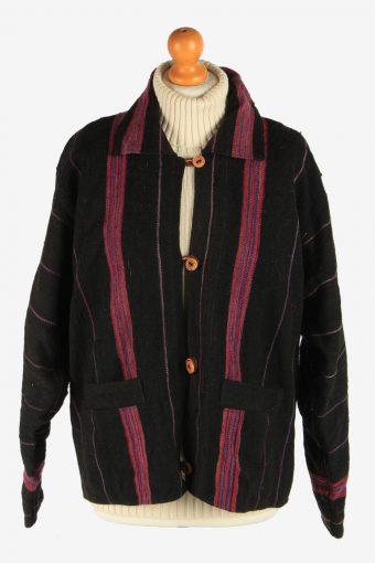 Women's Nepalies Wool Jacket Button Up Vintage Size L Multi C2955