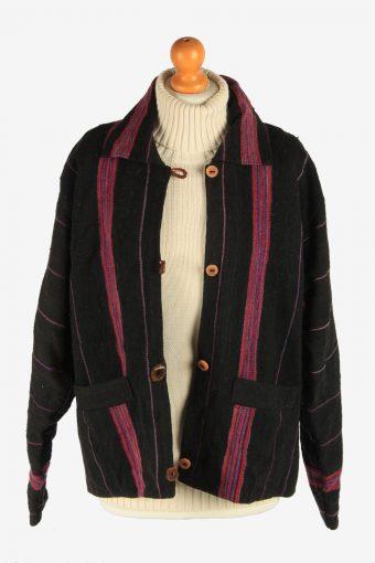 Women's Nepalies Wool Jacket Button Up Vintage Size L Multi C2955-162169