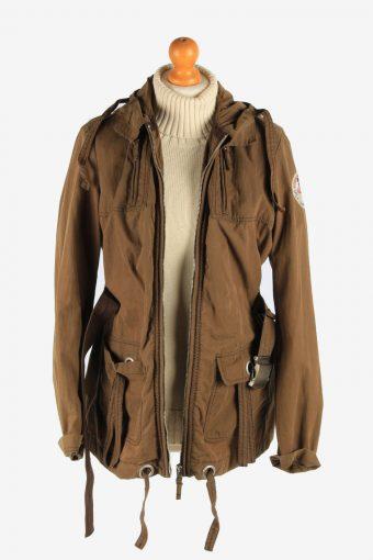 Women's Napapijri Coat Outdoor Hooded Vintage Size L Brown C2956-162175