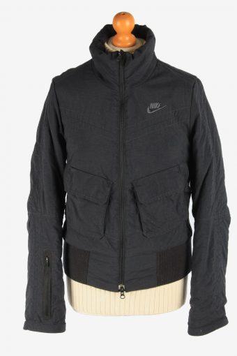 Women's Nike Bomber Jacket Outdoor Vintage Size M Black C2957