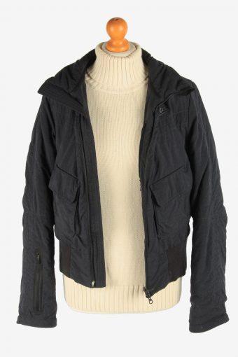 Women's Nike Bomber Jacket Outdoor Vintage Size M Black C2957-162181