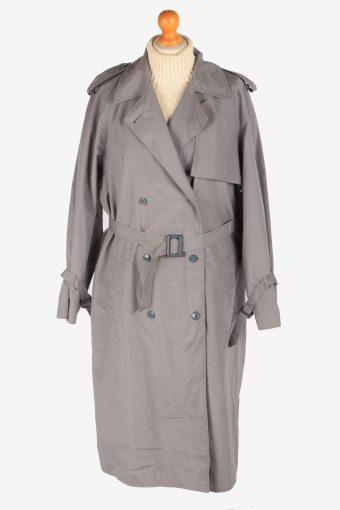 Women's Trench Coat Lightweight Button Up Vintage Size XXL Grey C3032