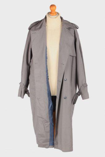 Women's Trench Coat Lightweight Button Up Vintage Size XXL Grey C3032-163332