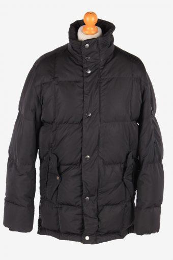 Hugo Boss Puffer Padded Jacket Mens Zip Up Vintage Size XL Black C3078