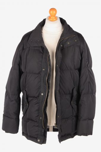 Hugo Boss Puffer Padded Jacket Mens Zip Up Vintage Size XL Black C3078-164917
