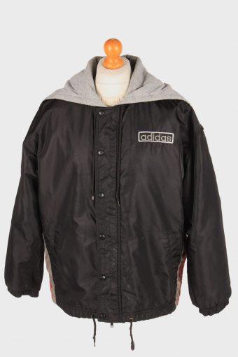 Adidas Polar Lined Jacket Outdoor  Mens Zip Up Vintage Size L Black C3084