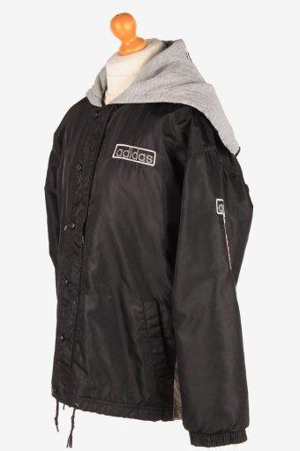 Adidas Polar Lined Jacket Outdoor Mens Zip Up Vintage Size L Black C3084-164953