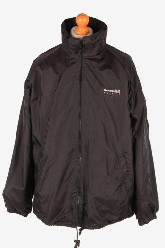 Reebok Raincoat Outdoor Mens Zip Up Vintage Size XL Black C3088
