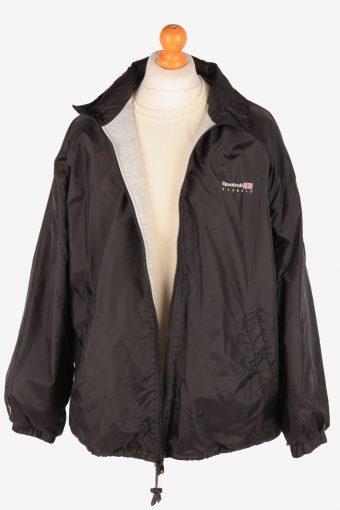 Reebok Raincoat Outdoor Mens Zip Up Vintage Size XL Black C3088-164977