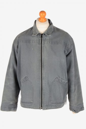 Levi's Polar Lined Denim Jacket Mens Zip Up Vintage Size M Grey C3090
