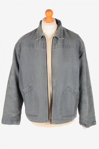 Levis Polar Lined Denim Jacket Mens Zip Up Vintage Size M Grey C3090-164989