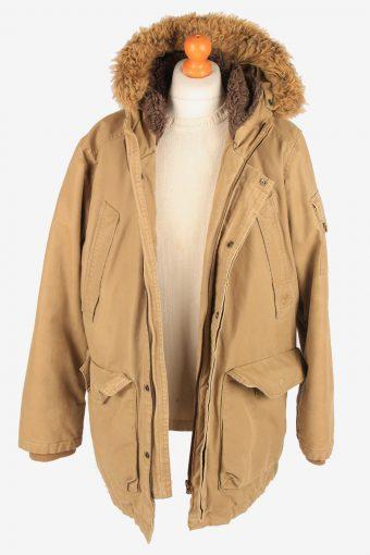 Timberland Overcoat Hooded Mens Zip Up Vintage Size XL Beige C3091-164995