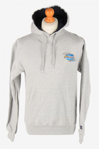 Champion Hoodie Sweatshirt 90s Retro Grey S