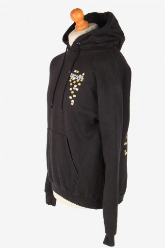 Champion Hoodies Sweatshirt Men's Vintage Size M Black -SW2771-163660
