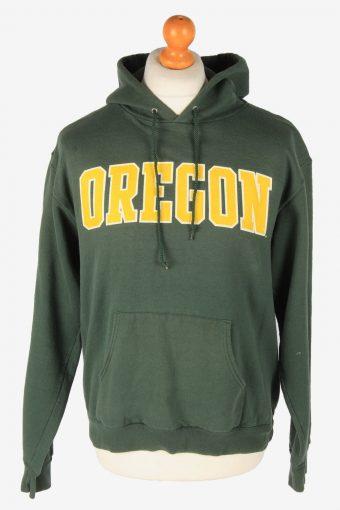 Champion Hoodie Sweatshirt 90s Retro Dark Green M