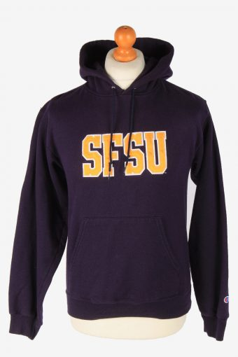 Champion Hoodie Sweatshirt Women Purple S