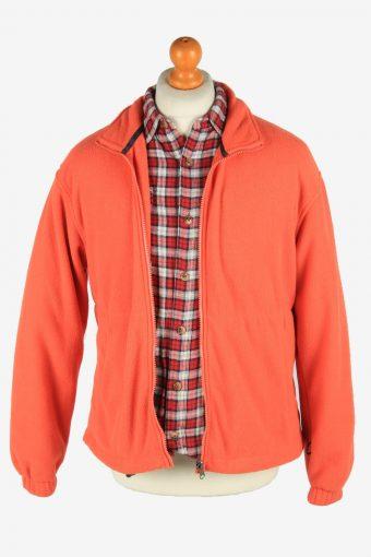 Fleece Jacket Top Full Zip Thermal Vintage Size M Orange -SW2726-160624