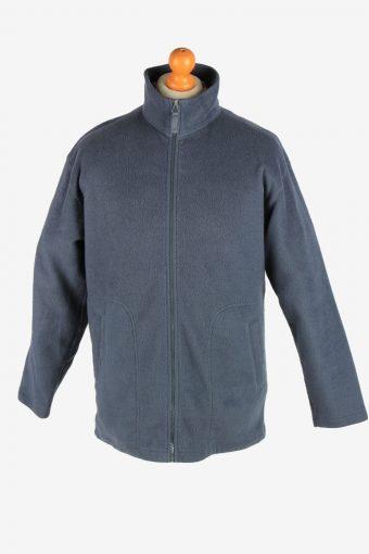 Fleece Jacket Top Full Zip Thermal Dark Grey L