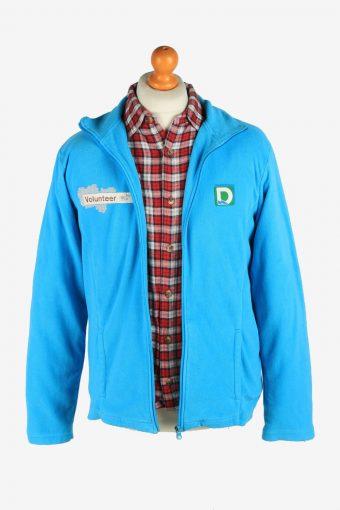 Fleece Jacket Top Full Zip Thermal Vintage Size M Light Blue -SW2735-160678