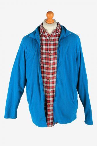 Fleece Jacket Top Full Zip Thermal Vintage Size M Blue -SW2736-160684
