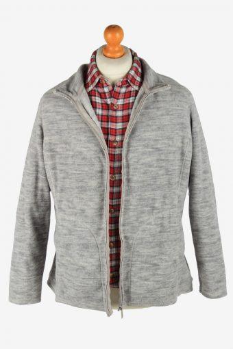 Fleece Jacket Top Full Zip Thermal Vintage Size M Grey -SW2739-160702